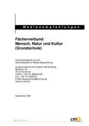 Fächerverbund Mensch, Natur und Kultur - Landesmedienzentrum ...