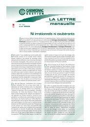 Lettre mensuelle Juin 2009 - Haussmann Patrimoine