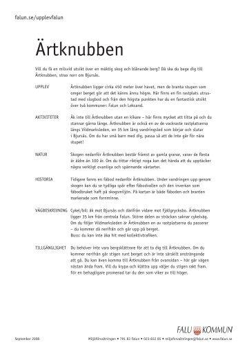Ärtknubben – karta för utskrift (pdf 1,6 MB) - Falu Kommun