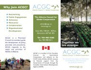 ACGC Brochure in PDF here - Alberta Council for Global Cooperation