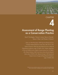 Assessment of Range Planting as a Conservation Practice - Natural ...