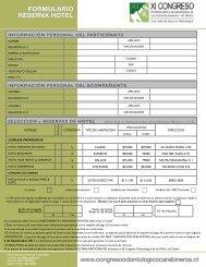 formulario reserva hotel - CAPDE