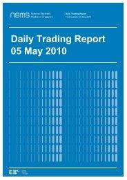 Daily Trading Report 05 May 2010 - EMC - Energy Market Company