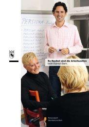 So flexibel sind die Arbeitszeiten - Stellenmarkt - Kanton Bern