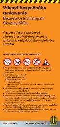 Zásady bezpečného tankovania (pdf, 170 kB) - Slovnaft