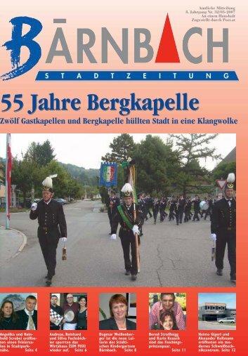 55 Jahre Bergkapelle 55 Jahre Bergkapelle - Bärnbach