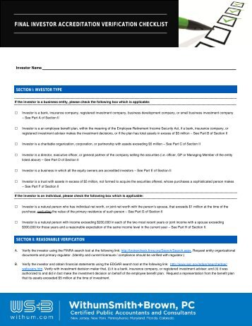 Investor Accredidation Checklist.pub - Withum