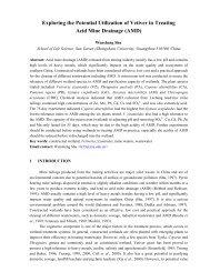 Treating Acid Mine Drainage (AMD) - The Vetiver Network ...
