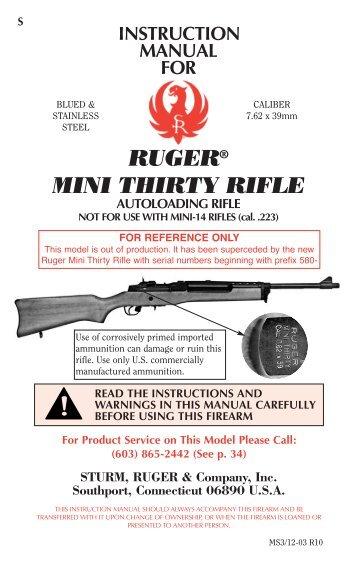 ruger mini 30 manual arizona citizens militia rh yumpu com mini mac 30 chainsaw manual scm mini 30 manual