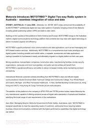 Motorola Introduces MOTOTRBO™ Digital Two-way Radio system in ...