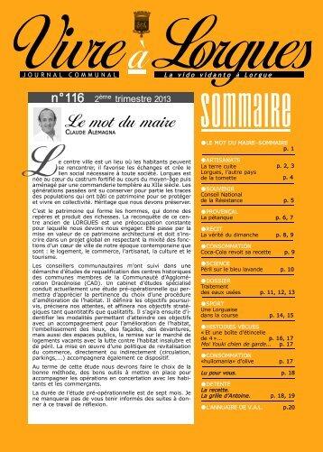 VAL N°116.qxd - Mairie de Lorgues