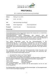Protokoll der Gemeindeversammlung vom 25.06.2012 - Amsoldingen