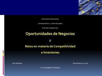 Presentación de D. Rigoberto Monge - Cámara Oficial Española de ...