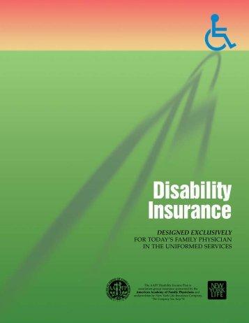 Disability Insurance - AAFP Insurance Program