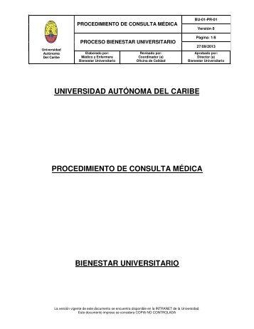 1. Procedimiento Consulta Médica - sistema de gestión de calidad ...