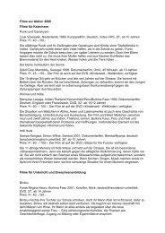 Filme zur Aktion 2006 - MEDIENSTELLE