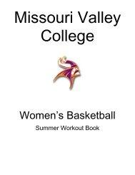 2011 Summer Workout Book - Missouri Valley College