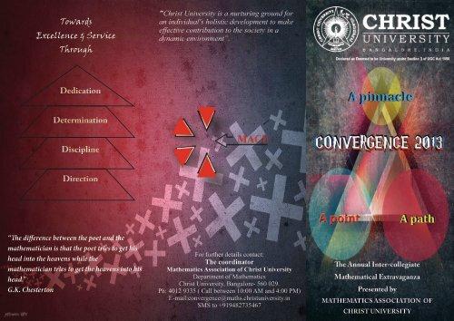 Towards Excellence & Service Through - Christ University