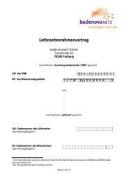 Lieferantenrahmenvertrag - badenovaNETZ GmbH