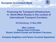 potential EIB projects (1/2)
