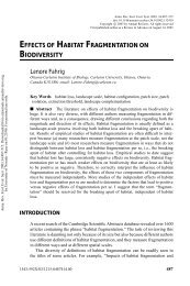 Fahrig, L. 2003. Effects of habitat fragmentation on biodiversity ...