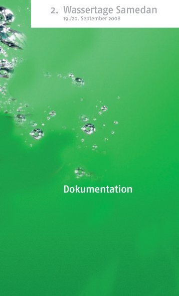 2. Wassertage Samedan Dokumentation