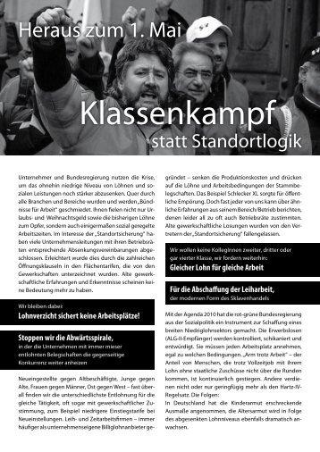 Aufruf 1 - Klassenkämpferischer Block - blogsport.de
