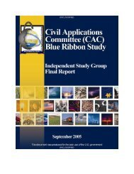 Civil Applications Committee (CAC) Blue Ribbon Study