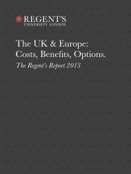 The UK & Europe - Regent's University London