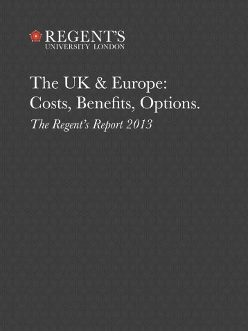 The UK & Europe - Regent's University London