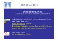 Inhalatietrauma's vanuit zowel klinisch als blootstellingsperspectief