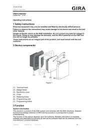 1 Safety instructions 2 Device components 3 Function KNX/EIB