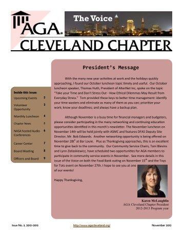November 2012 - AGA Cleveland Chapter