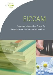 European Information Centre for Complementary ... - eiccam
