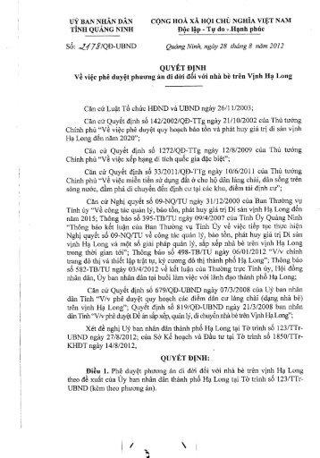 uý ban nhân dân cộng hoà xã hội chủ nghĩa việt nam - Quảng Ninh