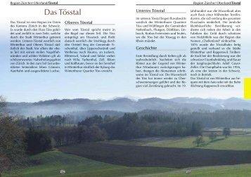 Tösstal - Reise-Idee Verlag