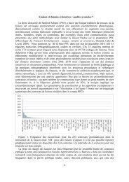Liaison et données extensives - Colloque Réseau Français de ...