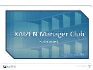 A VII-a sesiune - Institutul KAIZEN® România - Kaizen Institute