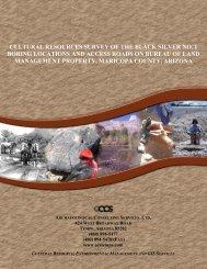 cultural resources survey of the black silver no. 1 boring locations ...