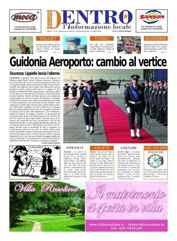Guidonia Aeroporto: cambio al vertice - La Voce del Nord Est Romano