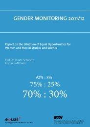 2011/12 Gender Monitoring - Equal! - ETH Zürich