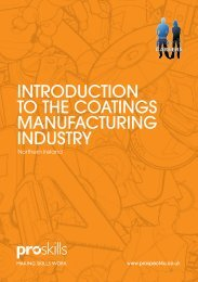 IntroductIon to the coatIngs ManufacturIng Industry - Proskills