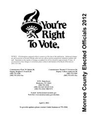 Monroe County Elected Officials 2012