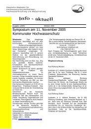 Info Aktuell Ausgabe 1/2005 - Akademie Hochwasser