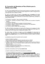 B- Convention de Barcelone et Plan d'Action pour la Méditerranée ...