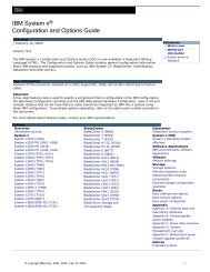 IBM System x® Configuration and Options Guide - IBM Quicklinks