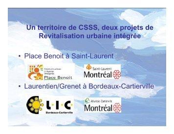Revitalisation urbaine intégrée (RUI) - CSSS de Bordeaux ...