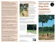 Off-Leash Dog Area Guidelines - Monmouth County