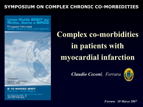 Complex co-morbidities in patients with myocardial infarction