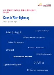 Cases in Water Diplomacy - USC Center on Public Diplomacy
